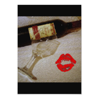 Romantic Red Wine Painting Card