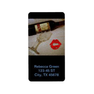 Romantic Red Wine Painting Label