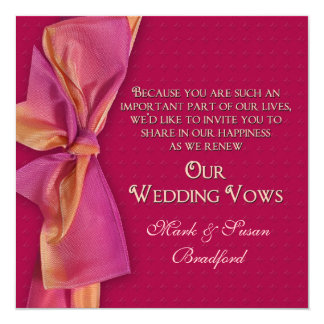 Romantic Renewing Wedding Vows Invitation