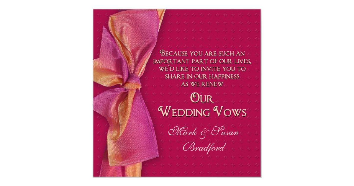 Romantic Renewing Wedding Vows Invitation