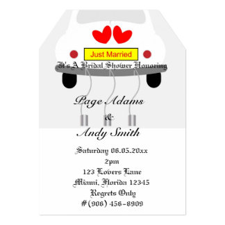 Romantic Retro Car Wedding Bridal Shower Card