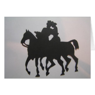 Romantic ride greeting card