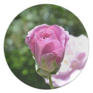 Romantic Rose Bud Plate
