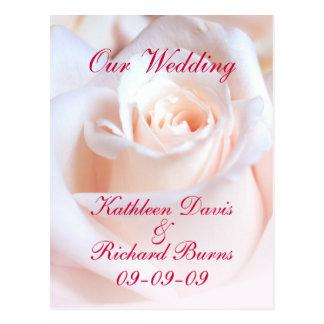 Romantic Rose Engagement Announcement Postcard