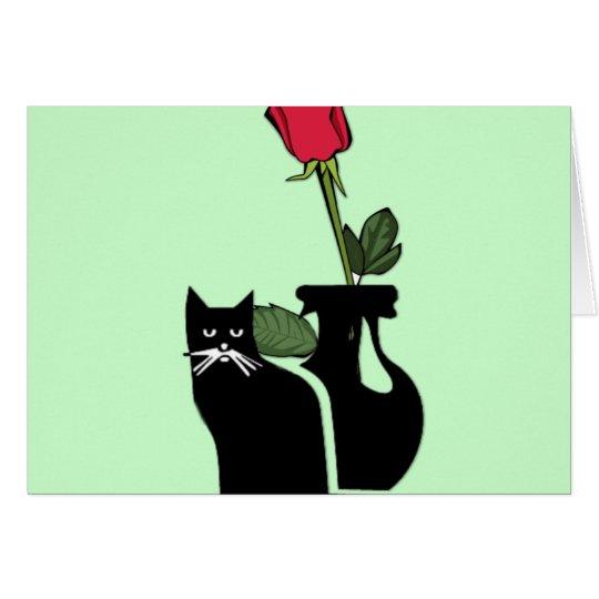 Romantic Rose Kitty Card
