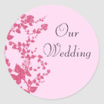 Romantic Rose Our Wedding Stickers