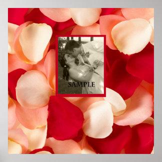 Romantic Rose Petal Photo Poster