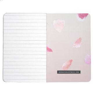 Romantic Rose Petals Journal