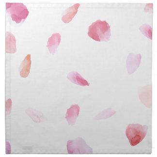Romantic Rose Petals Napkin