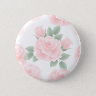 Romantic Rose Pinback Button