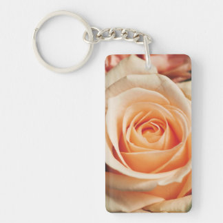 Romantic Rose Pink Rose Keychain