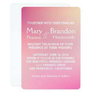 Romantic Rose Pink Watercolor Wedding Card
