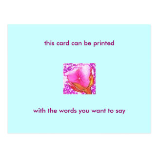 Romantic Rose Postcard - with your own words