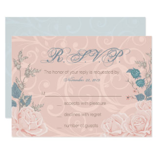 Romantic Rose Response Cards