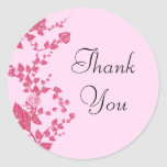 Romantic Rose Vines Thank You Stickers