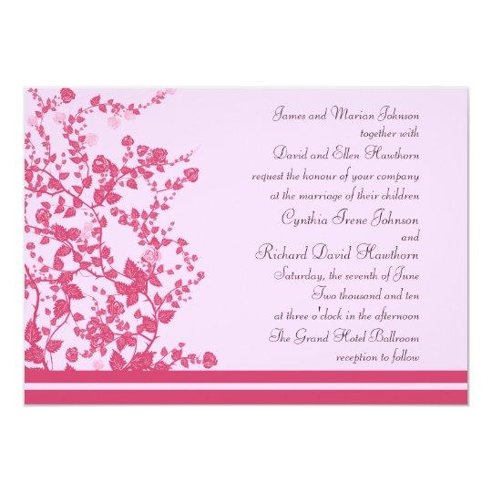 Romantic Rose Vines Wedding Invitations