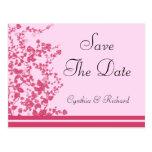 Romantic Rose Wedding Save The Date Postcard