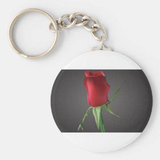 romantic-rosebud-vector key chain