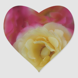 Romantic Roses adorn this heart sticker