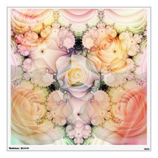 Romantic Roses and stylish swirls Wall Sticker