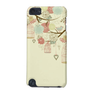 Romantic Roses, birds, birdcages, Floral Vintage iPod Touch (5th Generation) Case
