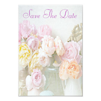 Romantic Roses in Jars 80th Save The Date 3.5x5 Paper Invitation Card