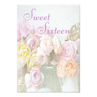 Romantic Roses in Jars Sweet Sixteen Card