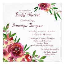 Romantic Roses Lesbian Bridal Shower Invitation