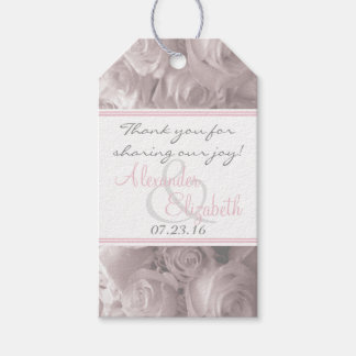 Romantic Roses- Wedding Guest Favor Gift Tags