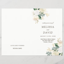 Romantic Roses Woodland Wedding Programs