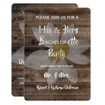 Romantic & Rustic Bachelor/Bachelorette Party Invitation