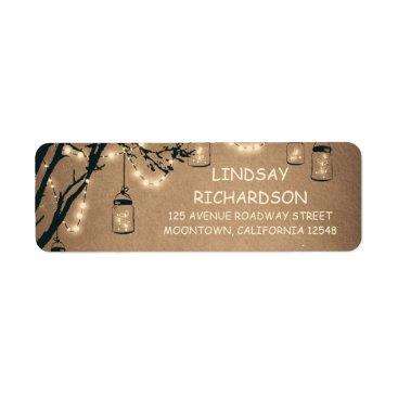 jinaiji Romantic Rustic Fireflies Mason Jars Wedding Label