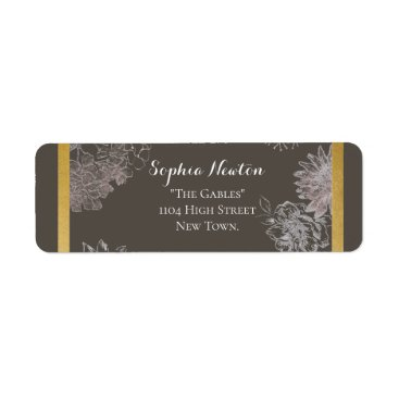 Wedding Themed Romantic rustic wedding return address label