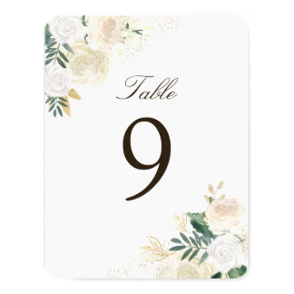 Romantic Rustic Woodland Table Number Cards