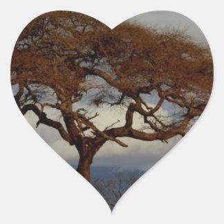 Romantic Safari Africa Bridal Shower Custom Peace Heart Sticker