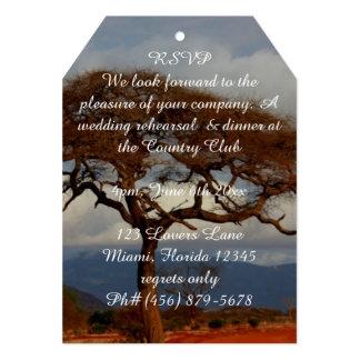 Romantic Safari Africa Wedding Rehearsal Dinner Card