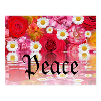 Romantic Safari Floral Bridal Shower Peace Destiny Postcard