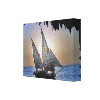 Romantic Sail n Sunset Canvas Print