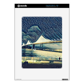 Romantic San Francisco SF Bay Bridge Lights iPad Decal