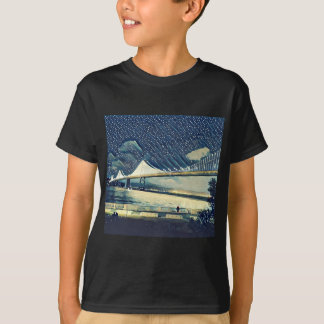 Romantic San Francisco SF Bay Bridge Lights T-Shirt