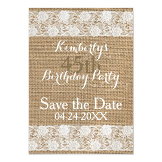 Romantic Save the Date 45th Birthday Magnetic Magnetic Invitations