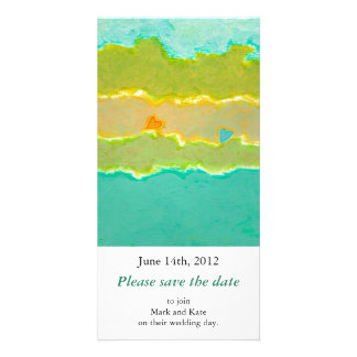 Romantic save the date card Summer Love unique art Photo Greeting Card