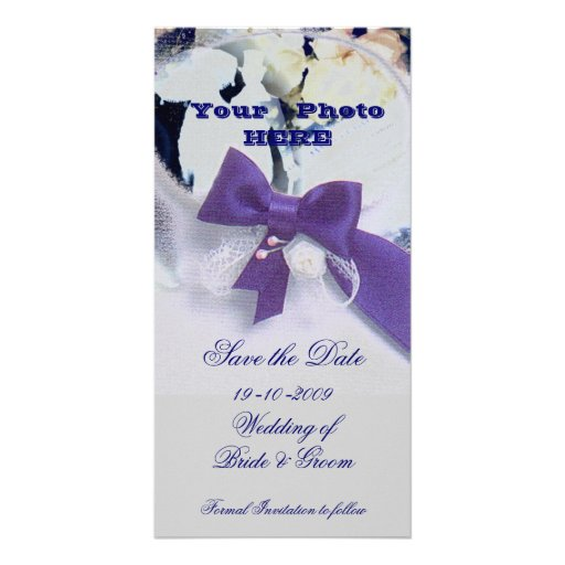 Romantic Save the Date Photo Card