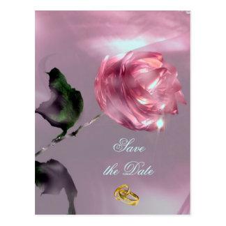 Romantic Save the Date Postcard
