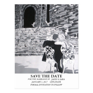 Romantic Save the Date Postcard