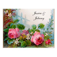 Romantic Save The Date Postcards at Zazzle