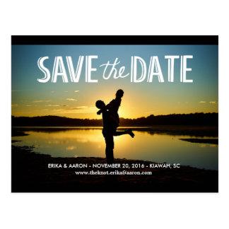 Romantic Save the Date Wedding Postcard