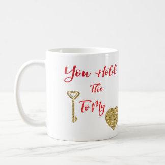Romantic Saying: Key to my Heart Coffee Mug
