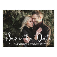 Romantic Script | Photo Save the Date Announcement