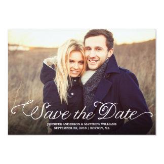 Romantic Script | Photo Save the Date Card